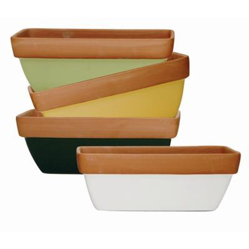 12 In. Window Box - Glazed Terra Cotta