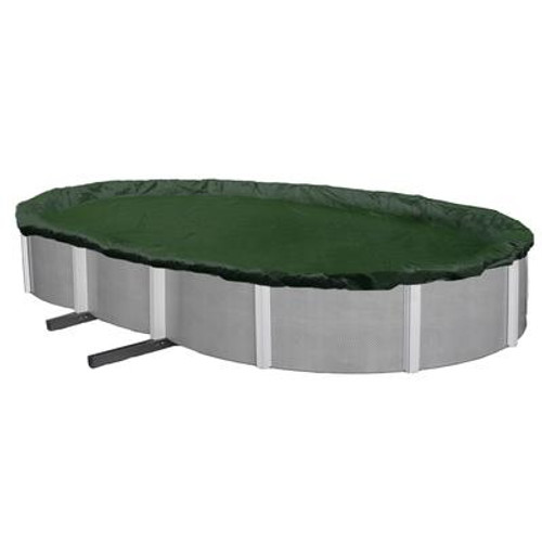 12-Year 16 Feet  x 25 Feet  Oval Above Ground Pool Winter Cover