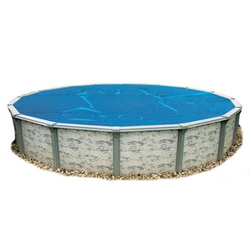 12-Feet Round 8-mil Solar Blanket for Above Ground Pools - Blue