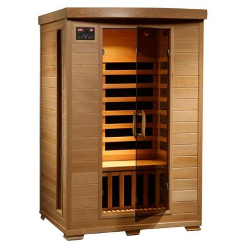 2-Person Hemlock Infrared Sauna with 6 Carbon Heaters