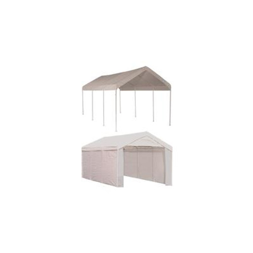 10 x 20 Canopy 1-3/8 in. 4-Rib Frame White Cover Enclosure Kit
