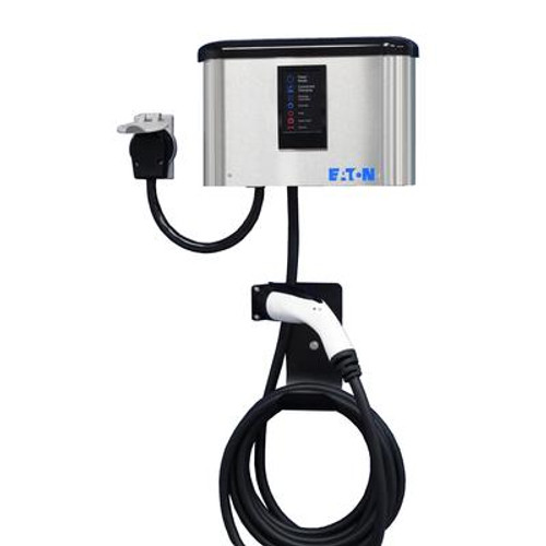 Indoor/Outdoor Electric Vehicle 30Amp Charger with Advanced Cord Management - Cord Connected