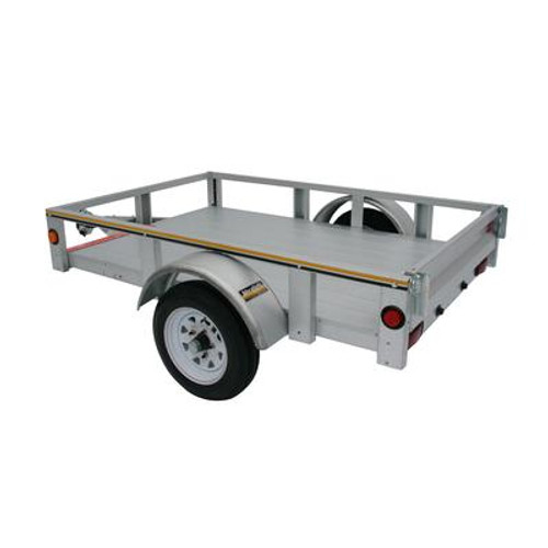 4 foot x 6 foot Galvanized Utility Trailer 48-072-ROL