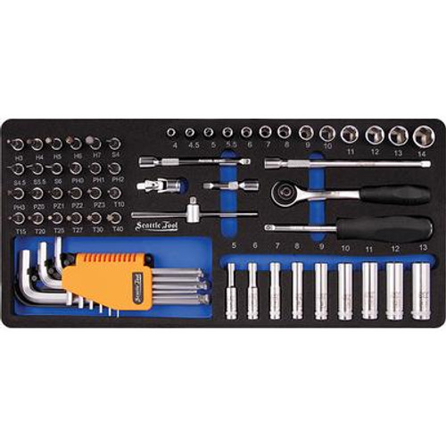 1/4 Inch Socket and Driver Set - 62 Pieces Metric