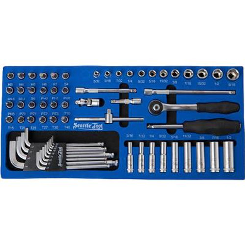 1/4 Inch Socket and Driver Set - 65 Pieces SAE