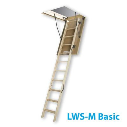 Attic Ladder (Wooden Basic DIY) LWS-M 27 1/2 x 47 300lbs 9ft2in