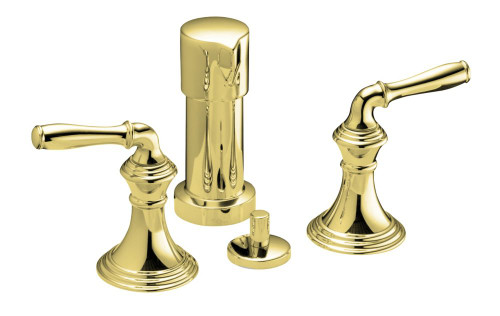Devonshire Vertical Spray Bidet Faucet In Vibrant Polished Brass