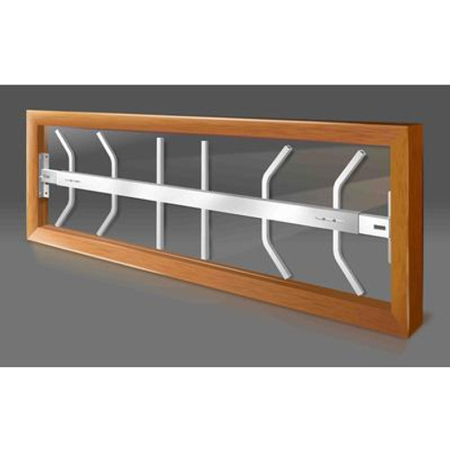 202 B Hinged Window Bar Fits windows 42-54 In. wide and 12-22 In. high
