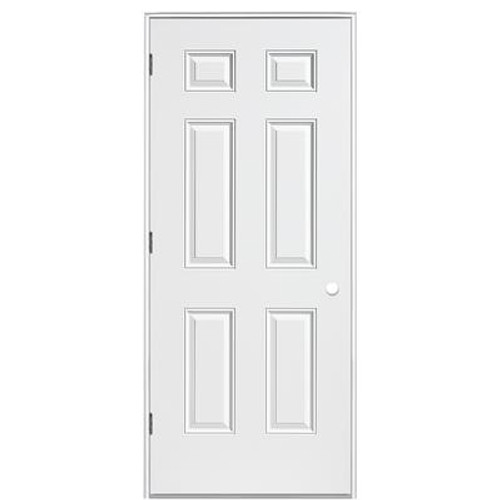 32 In. x 4-9/16 In. 6 Panel Primary Left Hand Out-Swing Door