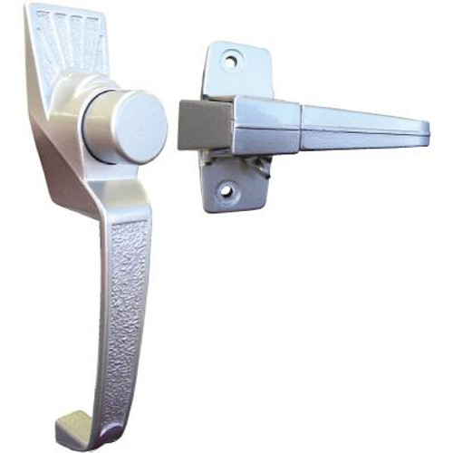 Pushbutton Latch Silver