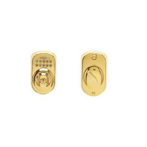 Bright Brass Electronic Deadbolt Plymouth
