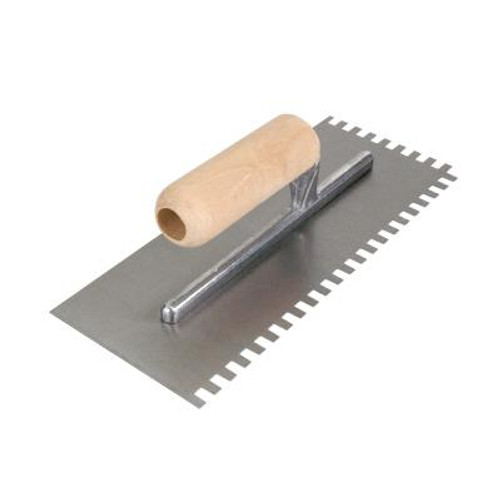1/4 In. x 3/8 In. x 1/4 In. Square Notch Flooring Trowel; ProSeries.