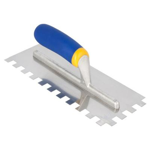 1/2 In. x 1/2 In. x 1/2 In. Square Notch Mega Grip Trowel