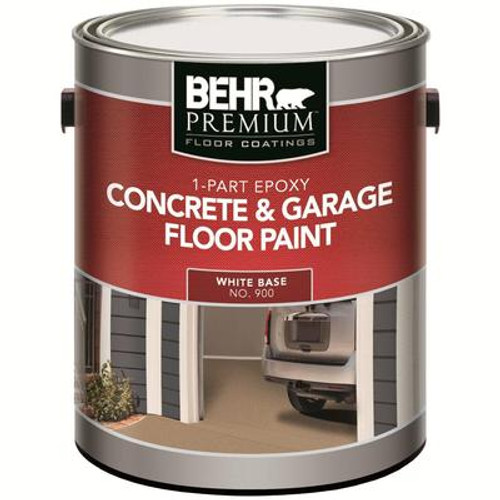 1-Part Epoxy Acrylic Concrete & Garage Floor Paint - White; 3.61L
