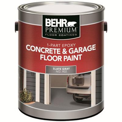 1-Part Epoxy Acrylic Concrete & Garage Floor Paint - Slate Gray; 3.79L