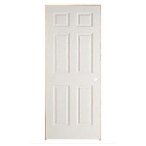 6 Panel Textured Pre-Hung Door 24in x 80in - LH