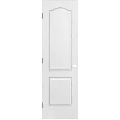 2 Panel Arch Top Textured Pre-Hung Door 24in x 80in - LH