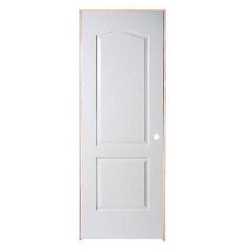 2 Panel Arch Top Textured Pre-Hung Door 28in x 80in - LH