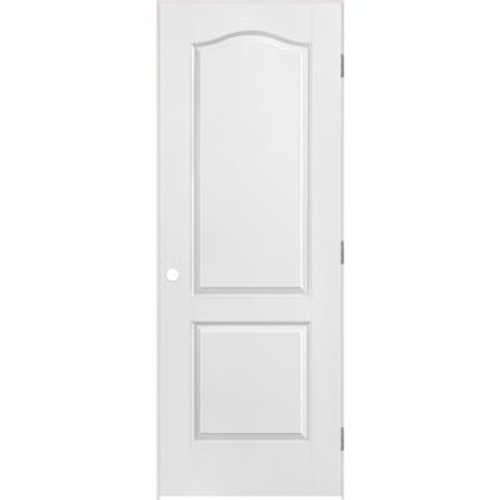 2 Panel Arch Top Textured Pre-Hung Door 28in x 80in - RH