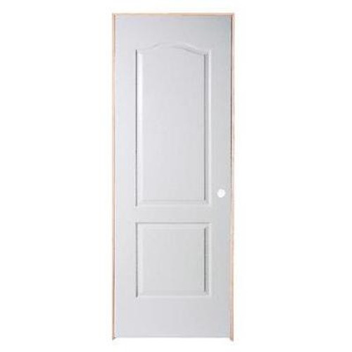 2 Panel Arch Top Textured Pre-Hung Door 30in x 80in - LH