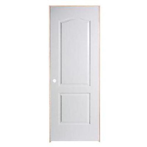 2 Panel Arch Top Textured Pre-Hung Door 30in x 80in - RH
