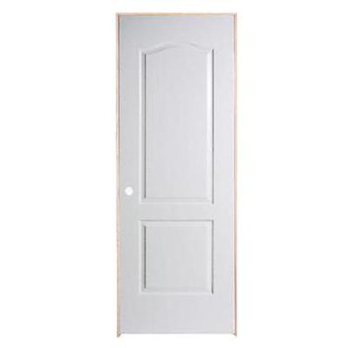 2 Panel Arch Top Textured Pre-Hung Door 24in x 80in - RH