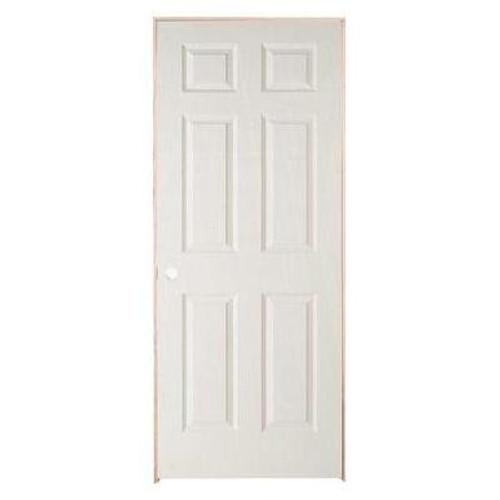 6 Panel Textured Pre-Hung Door 24in x 78in - RH