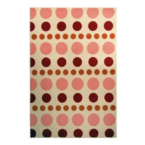 Designer Kids YumYum Pink 4 Ft. x 6 Ft. Area Rug