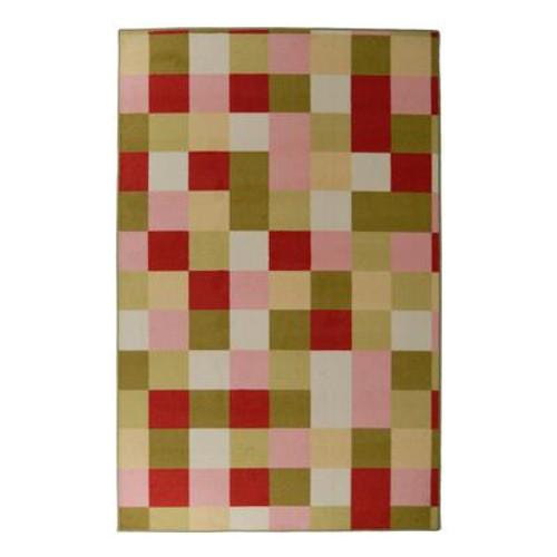Designer Kids Scatter Patch Pink 4 Ft. x 6 Ft. Area Rug