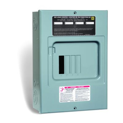 100 Amp QO Sub Panel Loadcentre with 4 spaces; 8 Circuits Maximum