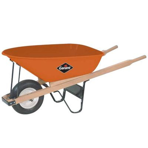 6 Cubic Ft Steel Tray Industrial Wheelbarrow