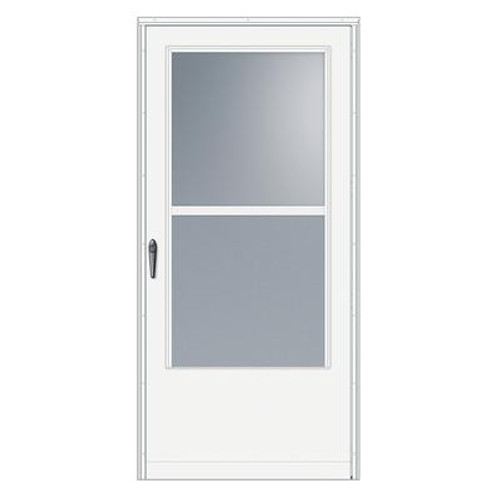 30 Inch Width; 100 Series Self-Storing; White Door; Black Hardware
