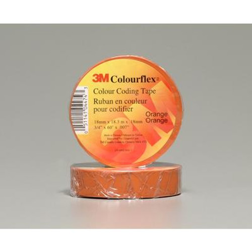 3M Colourflex Orange Coding Electrical Tape