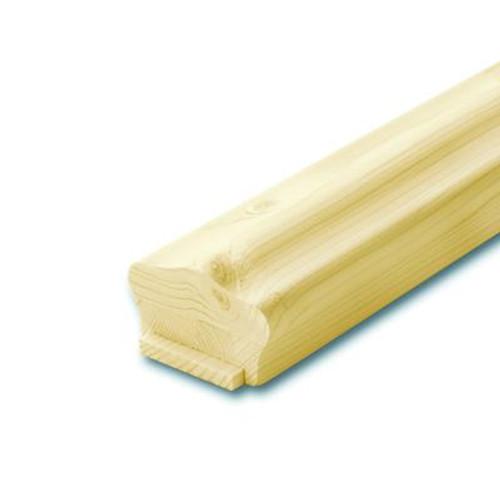 Knotty Pine Handrail & Fillet 1-5/8 In. x 2-5/8 In. x 6 Ft.