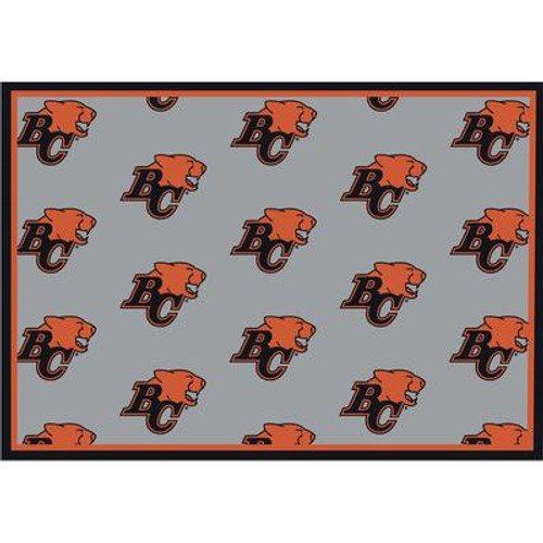 B.C Lions Repeat Rug 7 Ft. 8 In. x 10 Ft. 9 In. Area Rug
