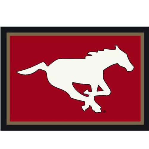Calagary Stampeders Spirit Rug 3 Ft. 10 In. x 5 Ft. 4 In. Area Rug