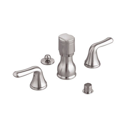 Colony 2-Handle Bidet Faucet in Satin Nickel with Vacuum Breaker