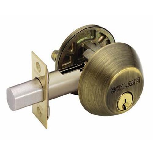 Antique Brass Single Cylinder Deadbolt