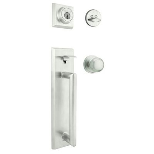 Colonnade x Troy Handleset With SmartKey; Satin Chrome
