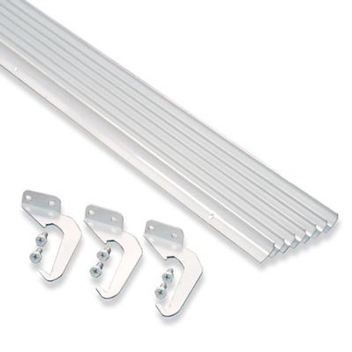 White Aluminum Rain Dispersing Eavestrough – 10-Pack