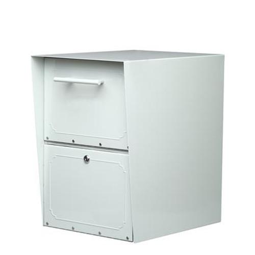 Oasis Post Mount Locking Drop Box Pearl Gray