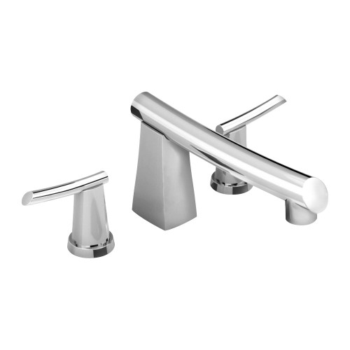 Green Tea 2-Handle Deck-Mount Roman Tub Filler in Polished Chrome
