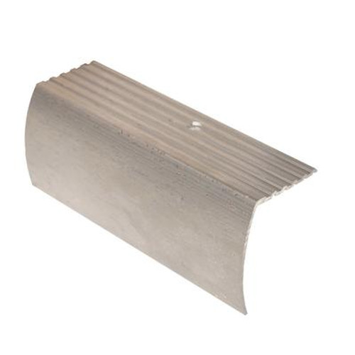 Stair Nosing Floor Moulding; Hammered Silver - 1-5/8 Inch