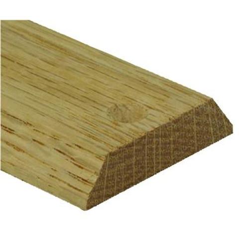 Red Oak Equalizer/Binder Bar Floor Moulding; Natural - 3/16in/1-1/2 Inch