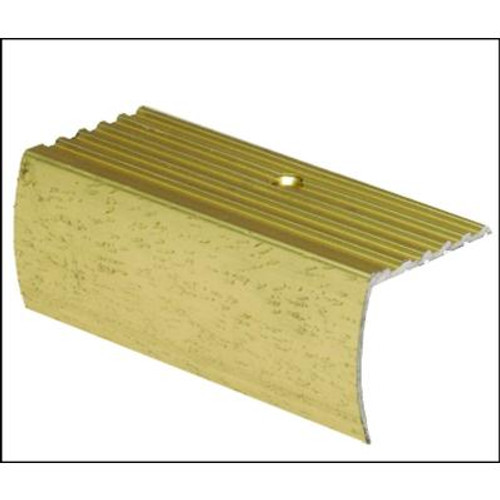 Stair Nosing Floor Moulding; Hammered Gold - 1-1/8 Inch