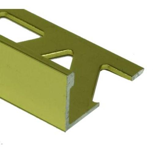 Ceramic Aluminum Tile Edge; Bright Clear - 3/8 Inch (10mm)