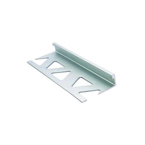 Ceramic Aluminum Tile Edge; Satin Clear - 5/16 Inch (8mm)