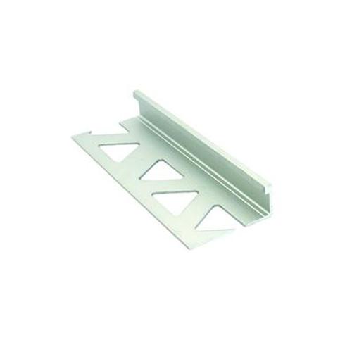 Ceramic Aluminum Tile Edge; Satin Clear - 3/8 Inch (10mm)
