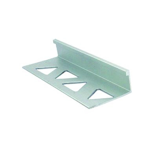 Ceramic Aluminum Tile Edge; Satin Clear - 1/2 Inch (12mm)
