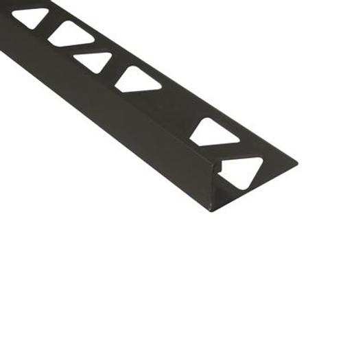 Ceramic Aluminum Tile Edge; Satin Titanium - 1/2 Inch (12mm)